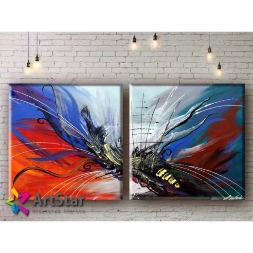 Модульные Картины, рисованные, маслом, Art. MHM17_2_035