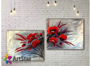 Модульные Картины, рисованные, маслом, Art. MHM17_2_059