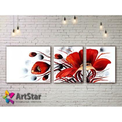 Модульные Картины, рисованные, маслом, Art. MHM17_2_061