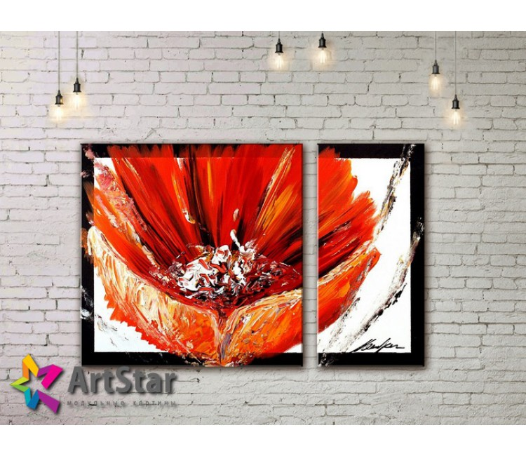 Модульные Картины, рисованные, маслом, Art. MHM17_2_065