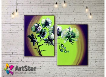 Модульные Картины, рисованные, маслом, Art. MHM17_2_075
