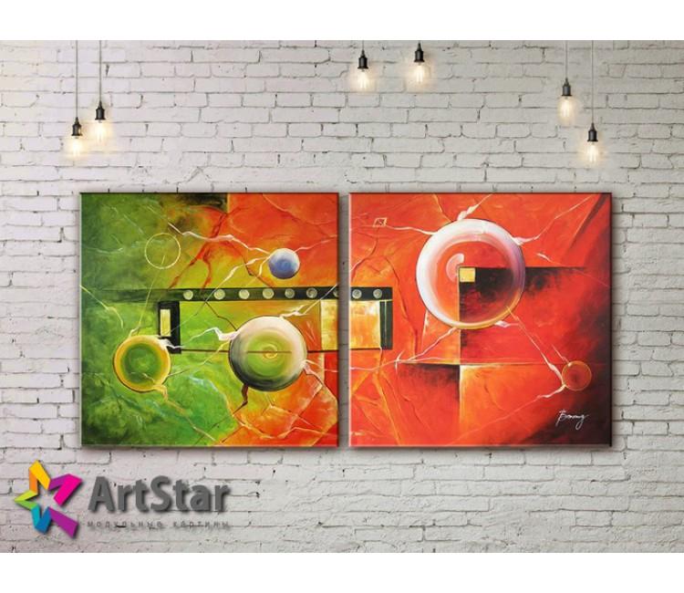 Модульные Картины, рисованные, маслом, Art. MHM17_2_079