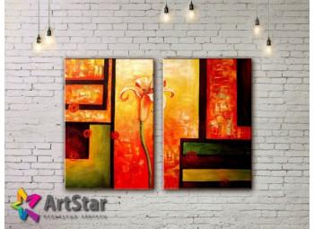 Модульные Картины, рисованные, маслом, Art. MHM17_2_087