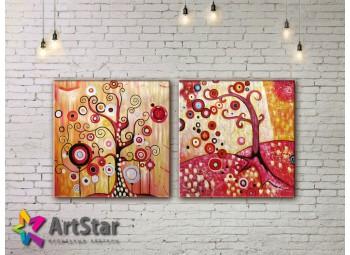 Модульные Картины, рисованные, маслом, Art. MHM17_2_089