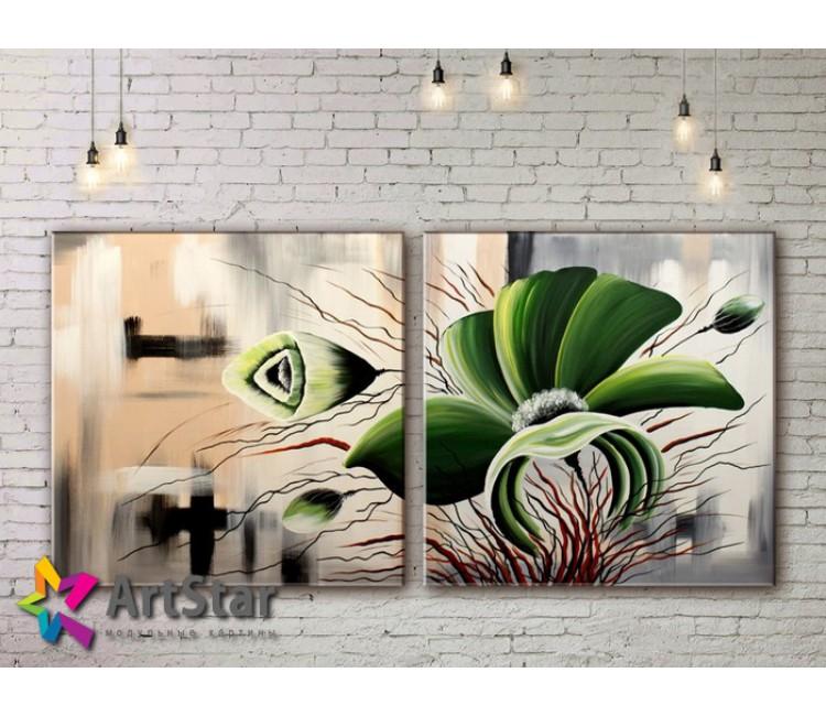 Модульные Картины, рисованные, маслом, Art. MKM17_2_007