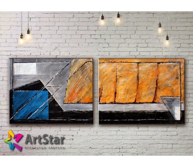 Модульные Картины, рисованные, маслом, Art. MKM17_2_009