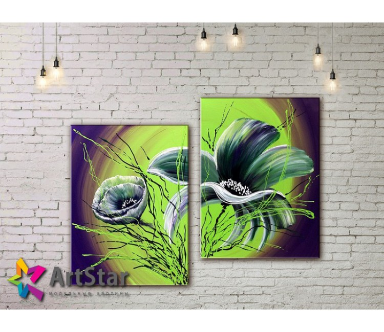 Модульные Картины, рисованные, маслом, Art. MKM17_2_017