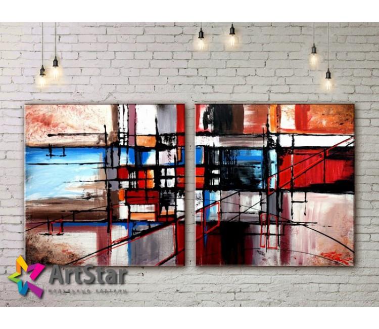 Модульные Картины, рисованные, маслом, Art. MKM17_2_021