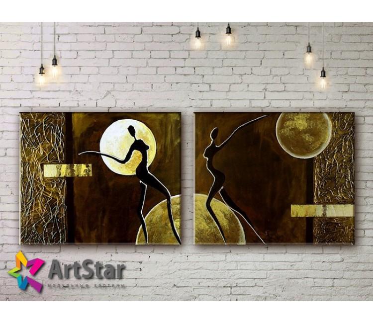 Модульные Картины, рисованные, маслом, Art. MKM17_2_027