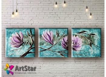 Модульные Картины, рисованные, маслом, Art. MHM17_3_011