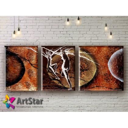 Модульные Картины, рисованные, маслом, Art. MHM17_3_015