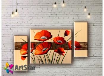 Модульные Картины, рисованные, маслом, Art. MHM17_3_023