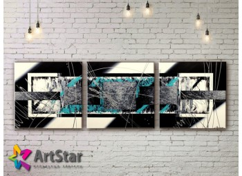 Модульные Картины, рисованные, маслом, Art. MHM17_3_035