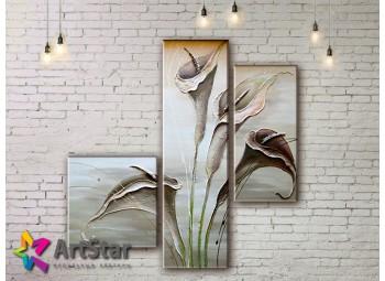 Модульные Картины, рисованные, маслом, Art. MHM17_3_037