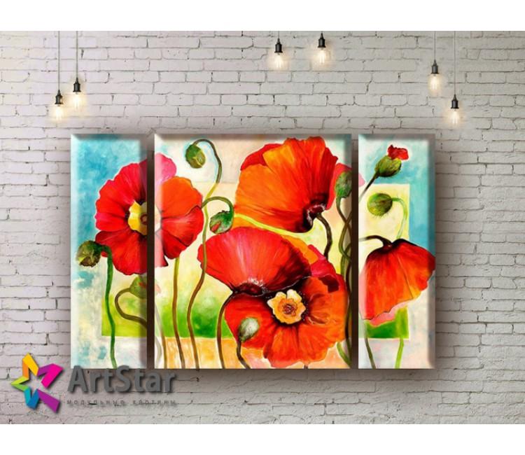 Модульные Картины, рисованные, маслом, Art. MHM17_3_045