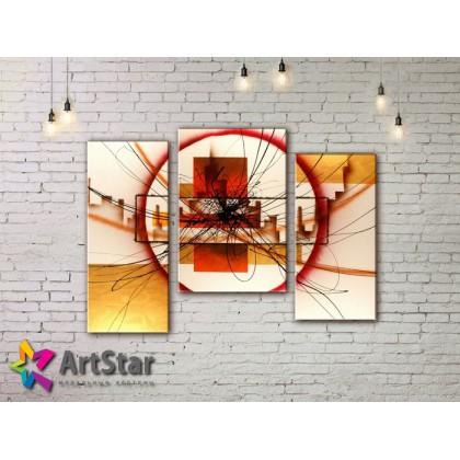 Модульные Картины, рисованные, маслом, Art. MHM17_3_093
