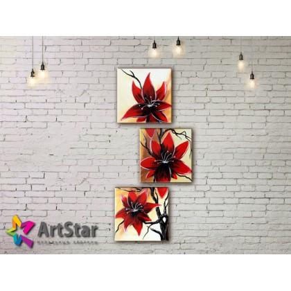 Модульные Картины, рисованные, маслом, Art. MHM17_3_113