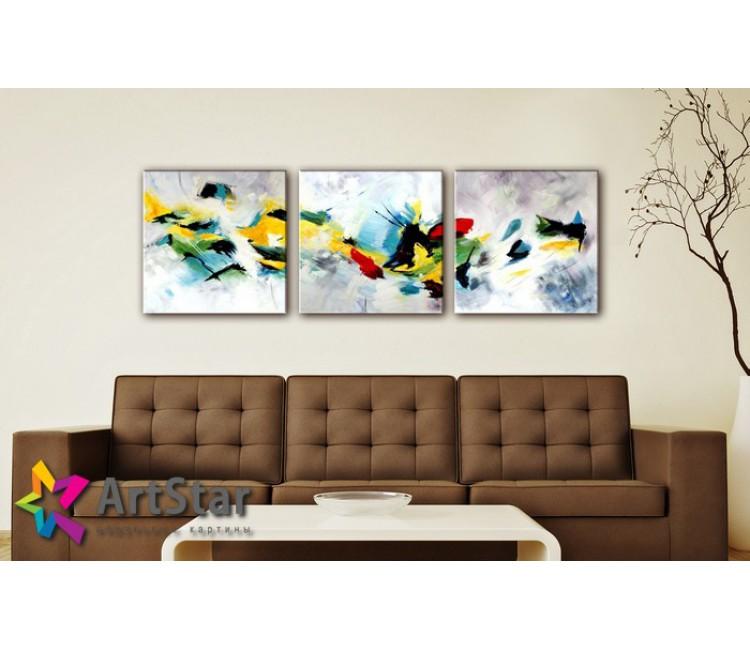 Модульные Картины, рисованные, маслом, Art. MHM17_3_117