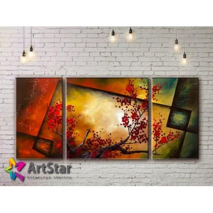 Модульные Картины, рисованные, маслом, Art. MHM17_3_119