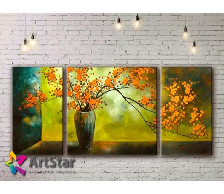 Модульные Картины, рисованные, маслом, Art. MHM17_3_120