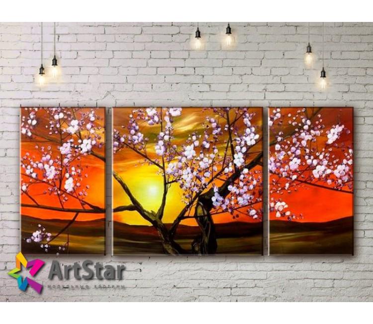 Модульные Картины, рисованные, маслом, Art. MHM17_3_124