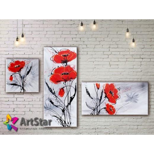 Модульные Картины, рисованные, маслом, Art. MHM17_3_138