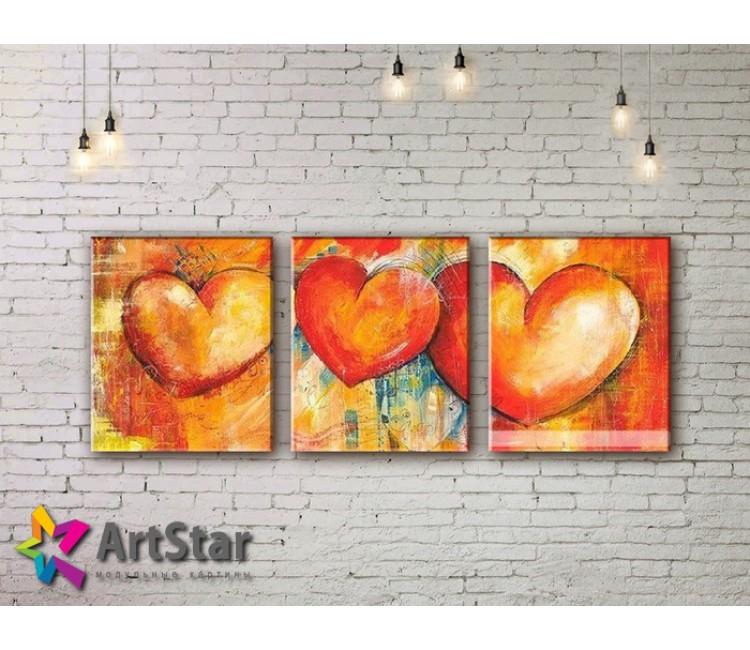 Модульные Картины, рисованные, маслом, Art. MHM17_3_140