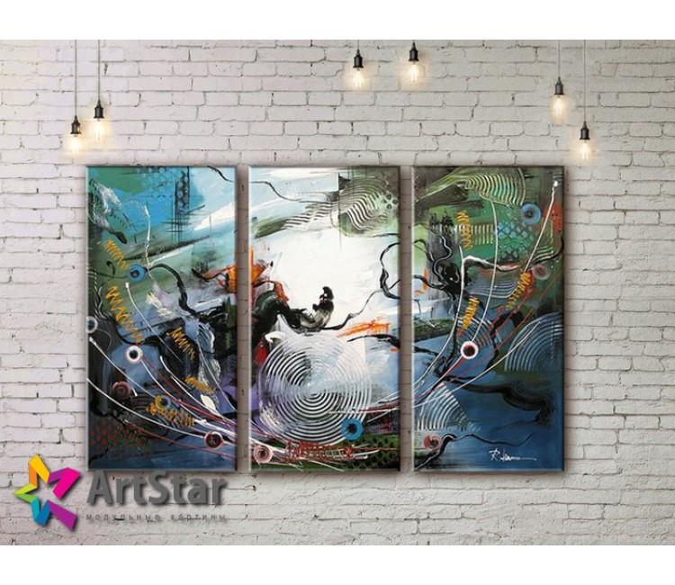 Модульные Картины, рисованные, маслом, Art. MHM17_3_150