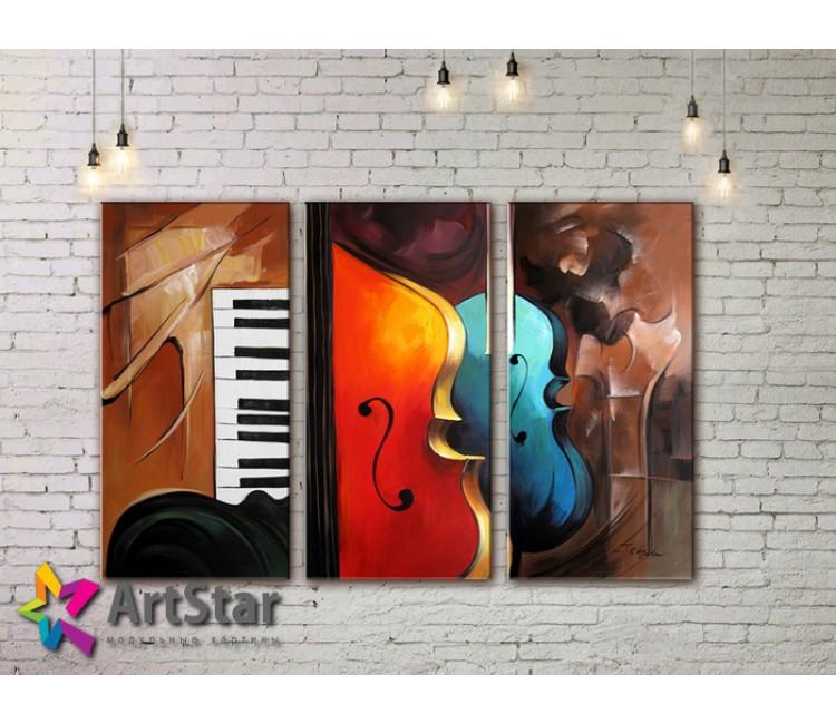 Модульные Картины, рисованные, маслом, Art. MHM17_3_154