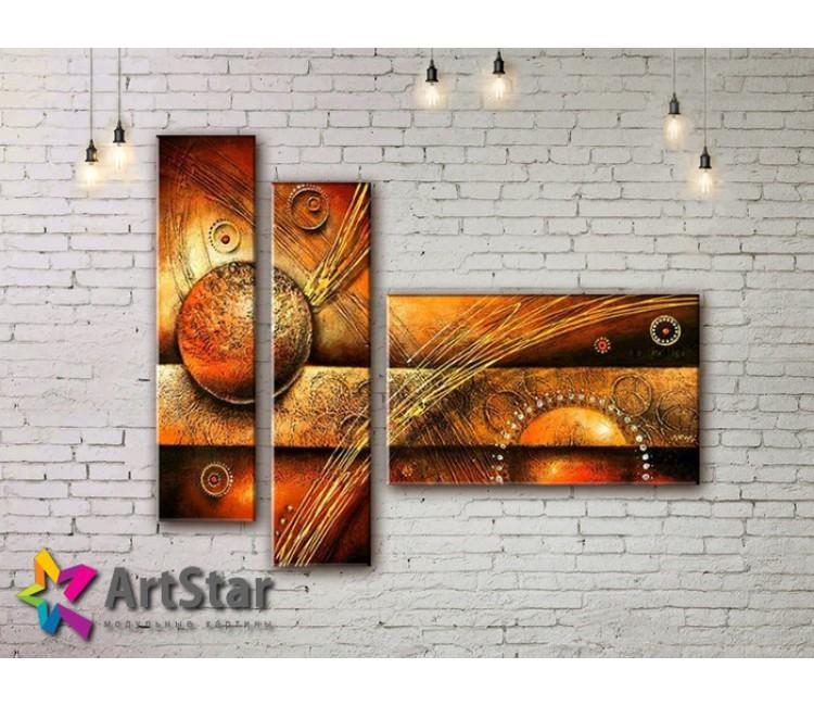 Модульные Картины, рисованные, маслом, Art. MHM17_3_158