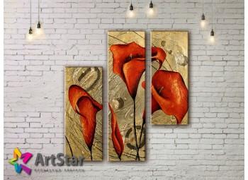 Модульные Картины, рисованные, маслом, Art. MHM17_3_164