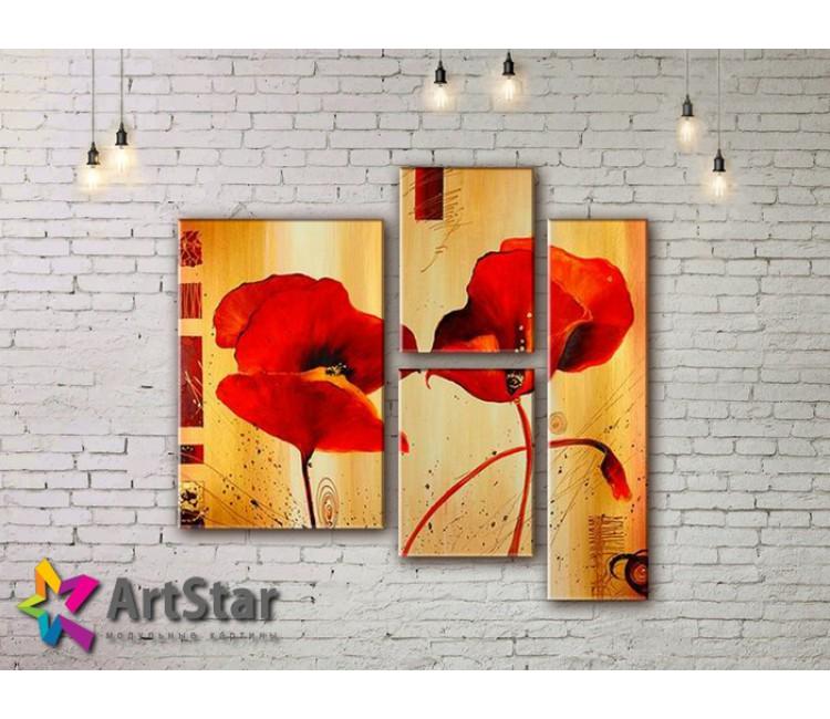 Модульные Картины, рисованные, маслом, Art. MHM17_3_184