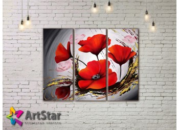 Модульные Картины, рисованные, маслом, Art. MHM17_3_216