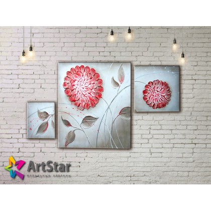 Модульные Картины, рисованные, маслом, Art. MHM17_3_218
