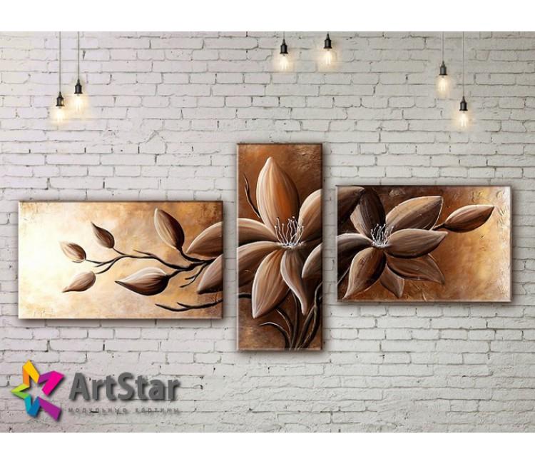 Модульные Картины, рисованные, маслом, Art. MKM17_3_003