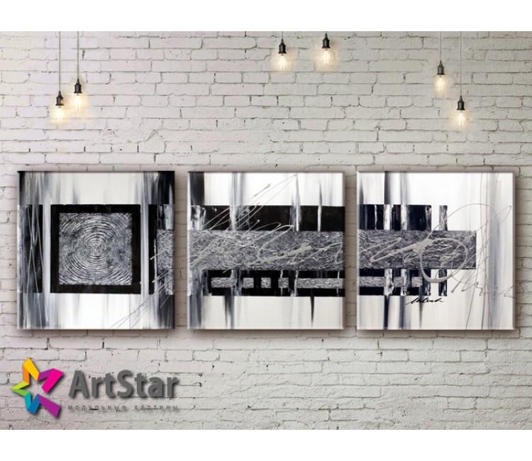 Модульные Картины, рисованные, маслом, Art. MKM17_3_013