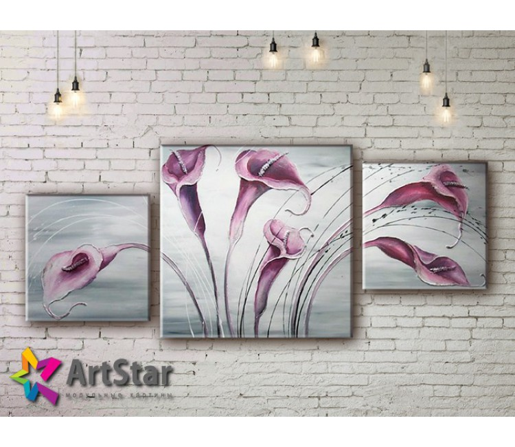Модульные Картины, рисованные, маслом, Art. MKM17_3_015