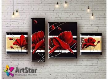 Модульные Картины, рисованные, маслом, Art. MHM17_4_003