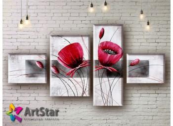 Модульные Картины, рисованные, маслом, Art. MHM17_4_005