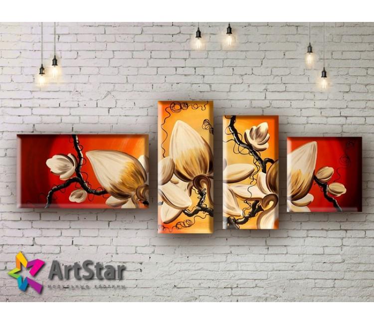 Модульные Картины, рисованные, маслом, Art. MHM17_4_009