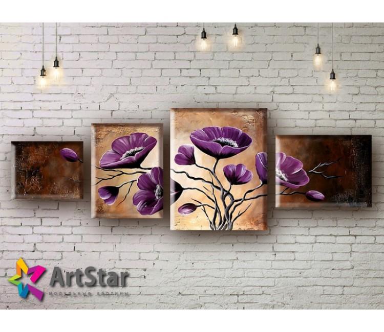Модульные Картины, рисованные, маслом, Art. MHM17_4_011