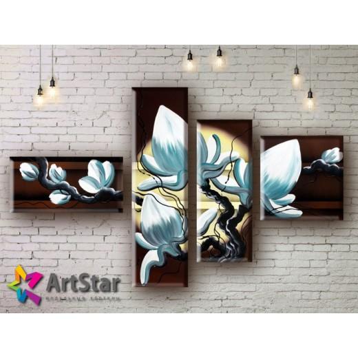 Модульные Картины, рисованные, маслом, Art. MHM17_4_013