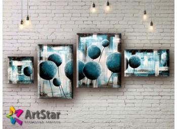 Модульные Картины, рисованные, маслом, Art. MHM17_4_017