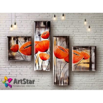 Модульные Картины, рисованные, маслом, Art. MHM17_4_021