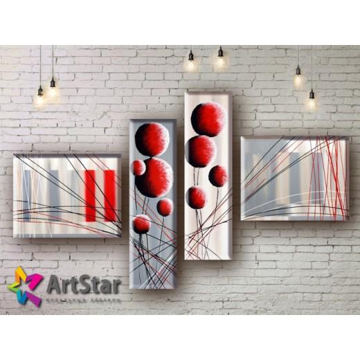 Модульные Картины, рисованные, маслом, Art. MHM17_4_027