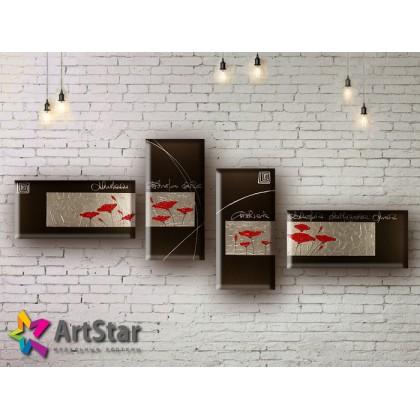 Модульные Картины, рисованные, маслом, Art. MHM17_4_033