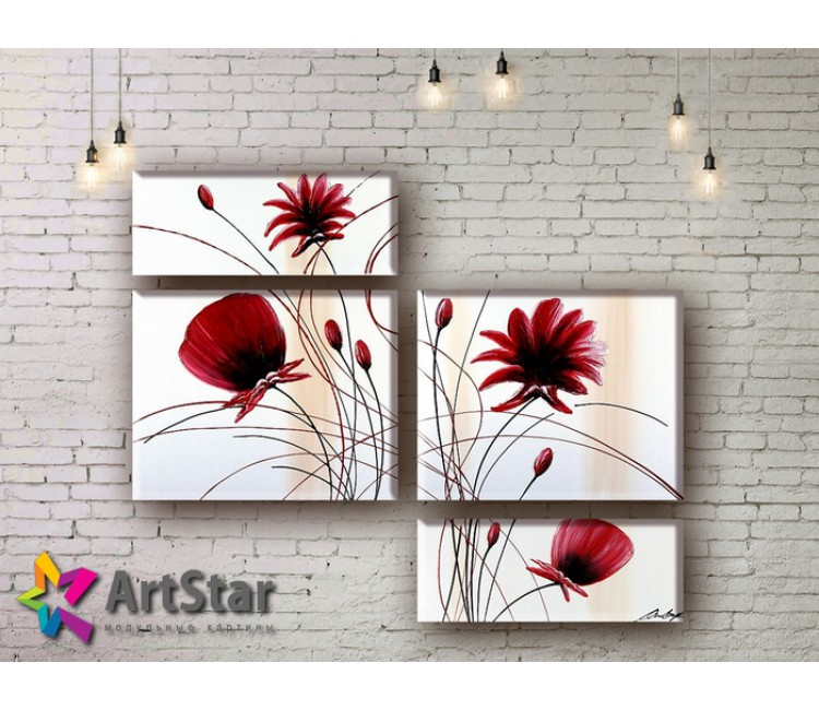 Модульные Картины, рисованные, маслом, Art. MHM17_4_037
