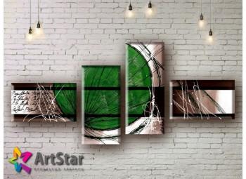 Модульные Картины, рисованные, маслом, Art. MHM17_4_039