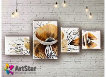 Модульные Картины, рисованные, маслом, Art. MHM17_4_041