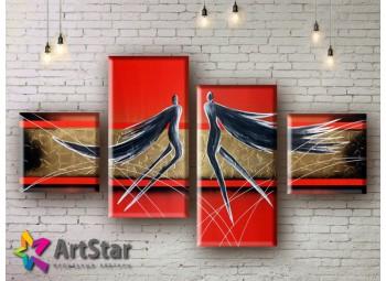 Модульные Картины, рисованные, маслом, Art. MHM17_4_053